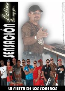 La fiesta de los soneros, poster del primer video clip de Sensación Latina, agrupación de Fomento.
