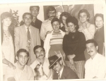 Teresita Niubó, Oscar y Mirta Cabrera, algunos de los amigos más allegados a Sabroseao.