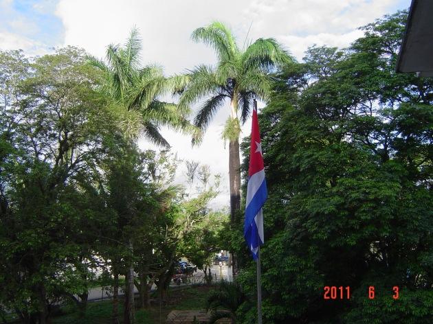 Bandera de ESBU de Fomento, junto a su entorno natural.